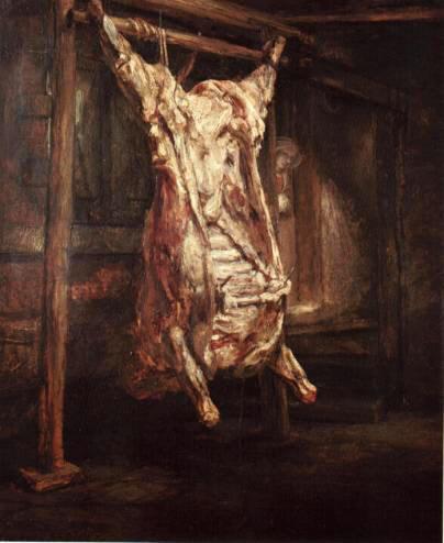 Rembrandt, Bue Macellato (1655)
