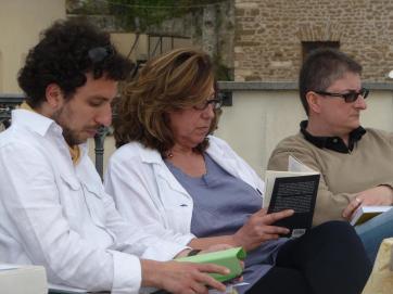 Da sinistra: Andrea Fiasco, Marta de Pasquale, Sonia Caporossi