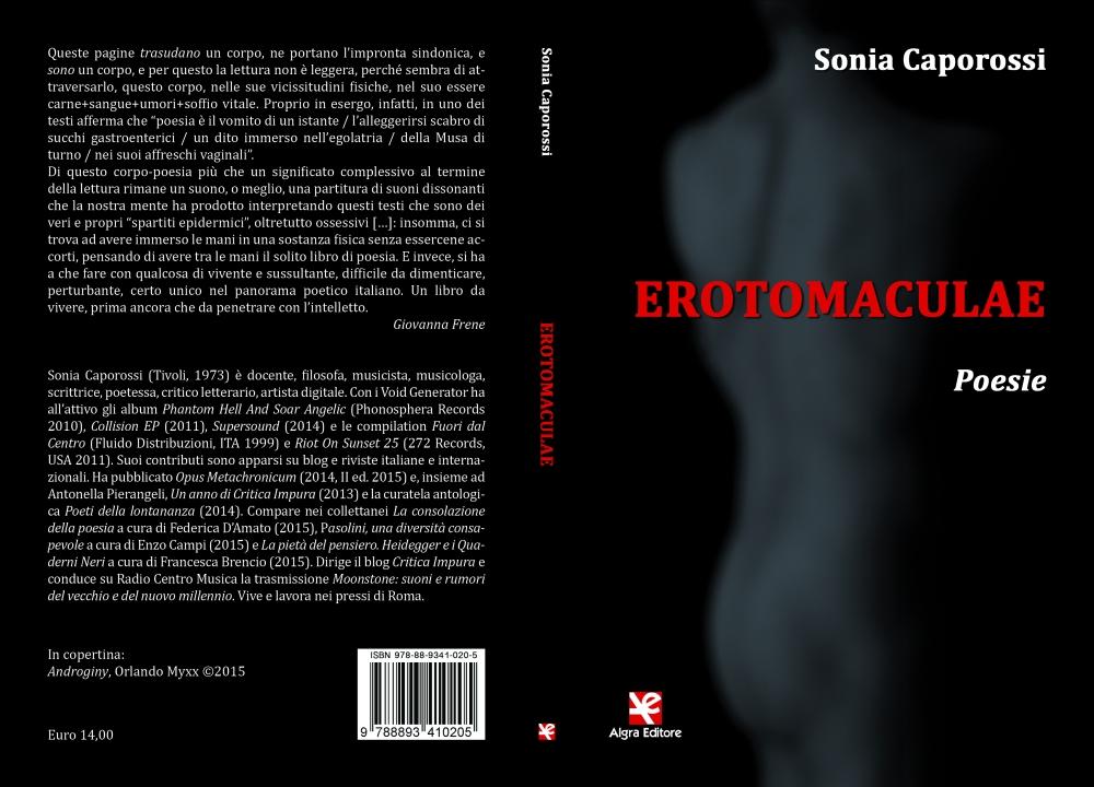 """Sonia Caporossi, """"Erotomaculae"""", Algra Editore, Catania 2016"""