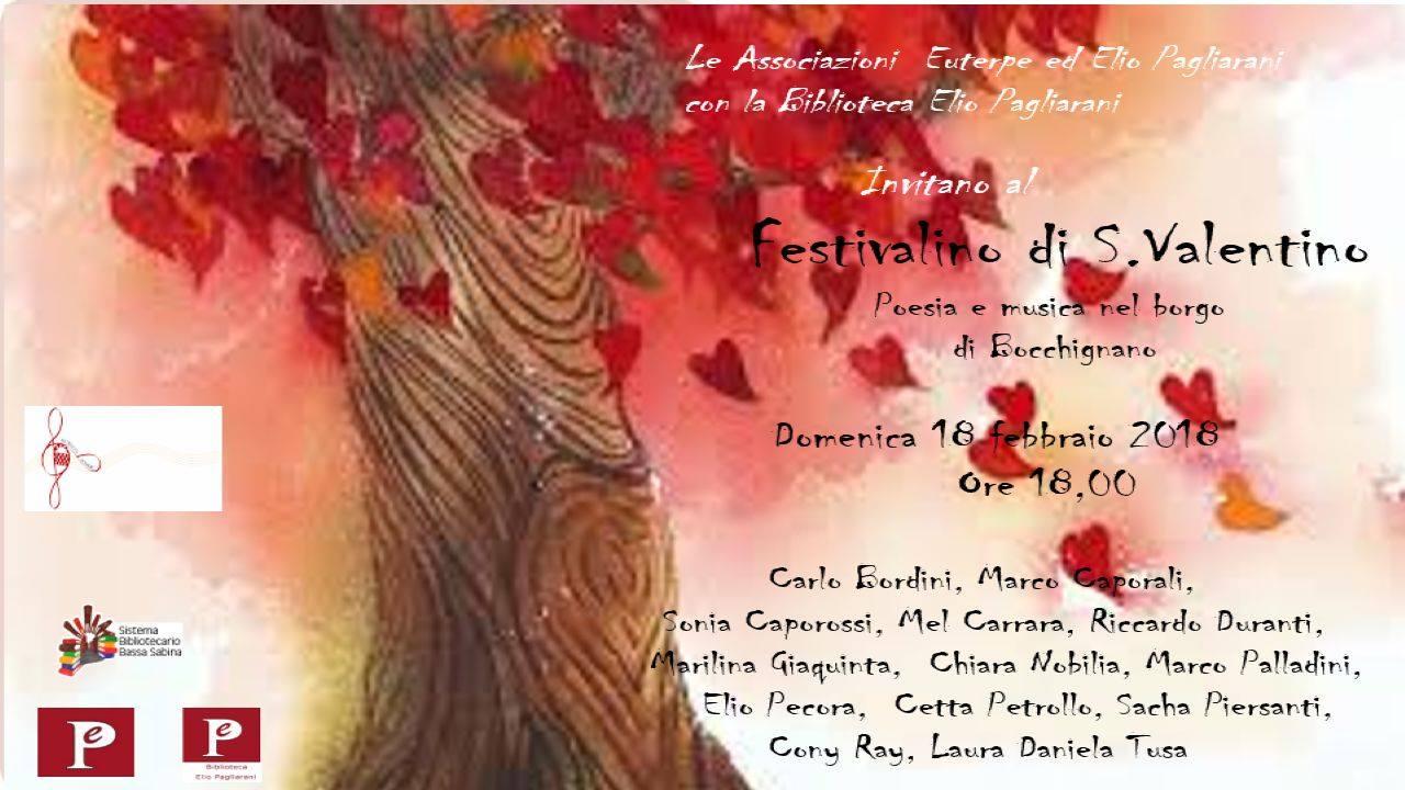 Festivalino di San Valentino: poesia e musica nel borgo di Bocchignano (18 Febbraio ore 18:00)